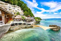 West Cove Resort in Boracay Island on Nov 18, 2017 in the Philip Royalty Free Stock Photos