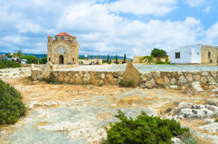 The west Cyprus. The church of St George located at Agios Georgios archaeological site, Pegeia, Cyprus Stock Image