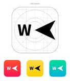 West direction compass icon. Vector illustration royalty free illustration