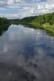 West-Dvina in Weißrussland, Vitebsk Stockbild