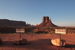 West and East Mitten Buttes Stock Image
