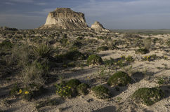 West and East Pawnee Butte. On the Pawnee National Grassland in Northeastern Colorado stock photo