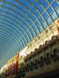 West edmonton mall. Glass ceiling of the west edmonton mall, the largest indoor mall in north america, edmonton, alberta, canada Stock Image
