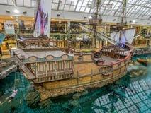 West Edmonton Mall galleon attraction Stock Photos