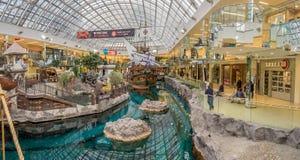 West Edmonton Mall galleon attraction. EDMONTON, CANADA - MAY 21: West Edmonton Mall galleon attraction on May 21, 2016 in Edmonton, Alberta. The West Edmonton Royalty Free Stock Photography