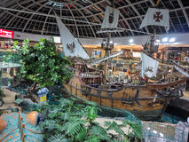 West Edmonton Mall. Interior of West Edmonton Mall in Alberta, Canada. It is the largest shopping mall in North America and the tenth largest in the world Royalty Free Stock Photo