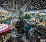 West Edmonton Mall. Unidentified people at West Edmonton Mall in Alberta, Canada. It is the largest shopping mall in North America and the tenth largest in the Royalty Free Stock Photo