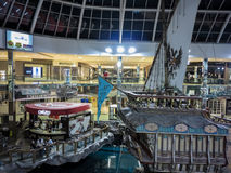 West Edmonton Mall. Unidentified people at West Edmonton Mall in Alberta, Canada. It is the largest shopping mall in North America and the tenth largest in the Royalty Free Stock Image