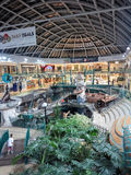 West Edmonton Mall. Unidentified people at West Edmonton Mall in Alberta, Canada. It is the largest shopping mall in North America and the tenth largest in the Stock Photo
