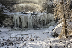 West Elyria Falls In Winter Royalty Free Stock Image