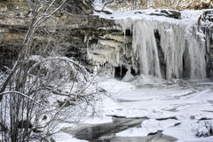 West Elyria Falls In Winter Royalty Free Stock Photo