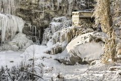 West Elyria Falls In Winter Royalty Free Stock Photography