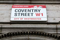 West End de Londres Fotografía de archivo