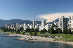 West End de Vancouver imagen de archivo libre de regalías