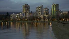 West End 4K crépusculaire de Vancouver UHD clips vidéos