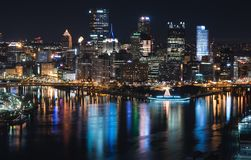 View of the Pittsburgh skyline from Duquesne overview Royalty Free Stock Images