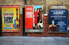 West End Theatre Posters Royalty Free Stock Image