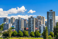 The West End of Vancouver Stock Image