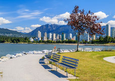 The West End of Vancouver. View on The West End of Vancouver across English Bay stock photography