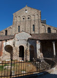 The West entrance Cathedral of Santa Maria Assunta Stock Images