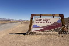 West Entrance to Death Valley National Park California USA stock photography
