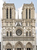 West façade Notre Dame de Paris Royalty Free Stock Photography