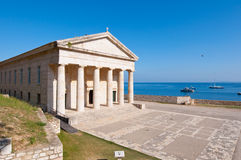 The west facade of the Church of St. George at the Old Fortress. Corfu, Greece. Stock Photography