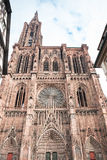 West facade of the Notre Dam of Strasbourg Cathedral Royalty Free Stock Photo