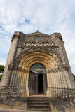 West facade of Notre-Dame de l'Assomption de Feniouxchurch , XI Stock Images