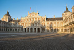 West facade of the Palace of Aranjuez Stock Photography