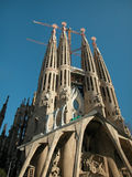 West Facade of Sagrada Familia royalty free stock image