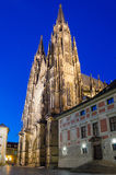 The west facade of St. Vitus Cathedral in Prague Royalty Free Stock Image