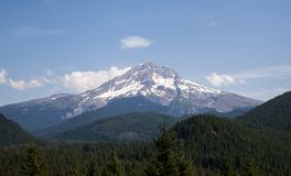 West face Mt Hood and the national forest Stock Photo
