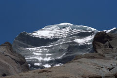 West Face of sacred Mount Kailash. View to the West Face of sacred Mount Kailash in Western Tibet Royalty Free Stock Photography