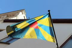 West Flanders Flag Royalty Free Stock Images