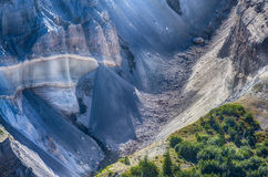 West Flank on Mt. St. Helens. Boulders tumbling down a chasm on the west flank of Mt. St. Helens royalty free stock photo