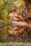 West Fork Fall Reflection Royalty Free Stock Image