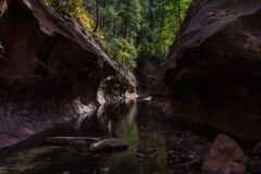 West Fork of Oak Creek Canyon No. 108 Stock Photos