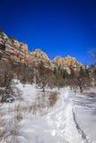 West Fork trail. West Fork Oak Creek trail near Sedona, Arizona in winter Royalty Free Stock Photo