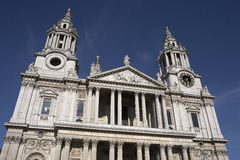 West front entrance to st pauls cathedral Royalty Free Stock Images