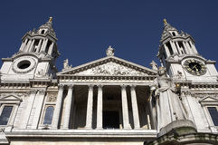 West front entrance to st pauls cathedral Royalty Free Stock Photo