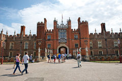 West Front & Main Entrance of Hampton Court Palace Royalty Free Stock Photos