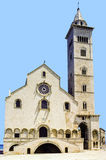 West front of Trani Cathedral with bell tower Royalty Free Stock Photo