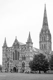 West front view of Salisbury Cathedral. Salisbury, Wiltshire, UK Royalty Free Stock Photo