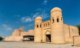 The West Gate of Itchan Kala - Khiva, Uzbekistan. The West Gate of Itchan Kala in Khiva, a UNESCO heritage site in Uzbekistan Royalty Free Stock Photo