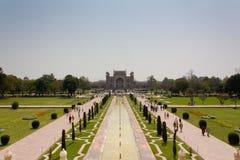 West gate of the Taj Mahal. Taj Mahal West Entrance view Stock Photography