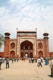 West Gate at Taj Mahal - India. West Gate entrance to the Taj Mahal in Agra, India Stock Photo