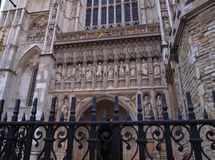 West gate of Westminster Abbey, London, UK Royalty Free Stock Image