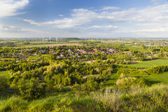 West German Wind Energy Landscape Stock Photo
