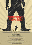 West gunfight poster for text.Vector illustration Royalty Free Stock Images